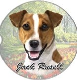 Absorbent Car Coaster - Jack Russell