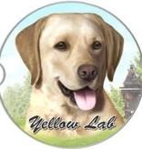 Absorbent Car Coaster - Labrador, Yellow