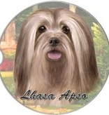 Absorbent Car Coaster - Lhasa Apso
