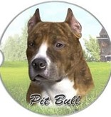 Absorbent Car Coaster - Pit Bull, Brindle