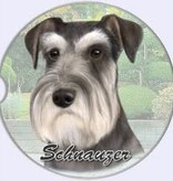 Absorbent Car Coaster - Schnauzer, UnCropped