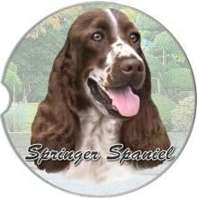 Absorbent Car Coaster - Springer Spaniel