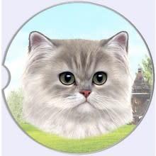 Absorbent Car Coaster - Persian Cat