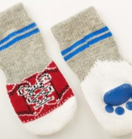 S - BLUE SNEAKER SLIPPER SOCK