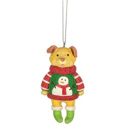 Dog in an Ugly Sweater Ornament