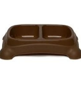 Large Double Diner - 4 cup, Brown Plastic