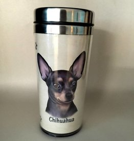 Pet Tumbler-Chihuahua, Black