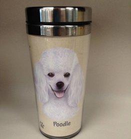 Pet Tumbler-Poodle, White