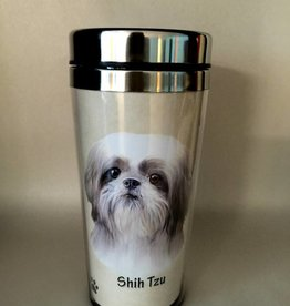 Pet Tumbler-Shih Tzu, Tan & White