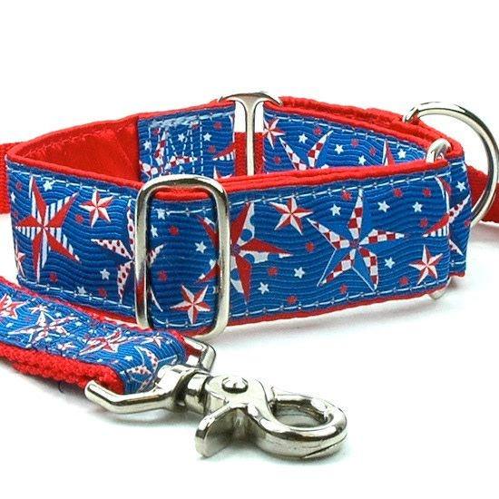 "1"" Wide Martingale Collar Medium 18-26"" Stars"