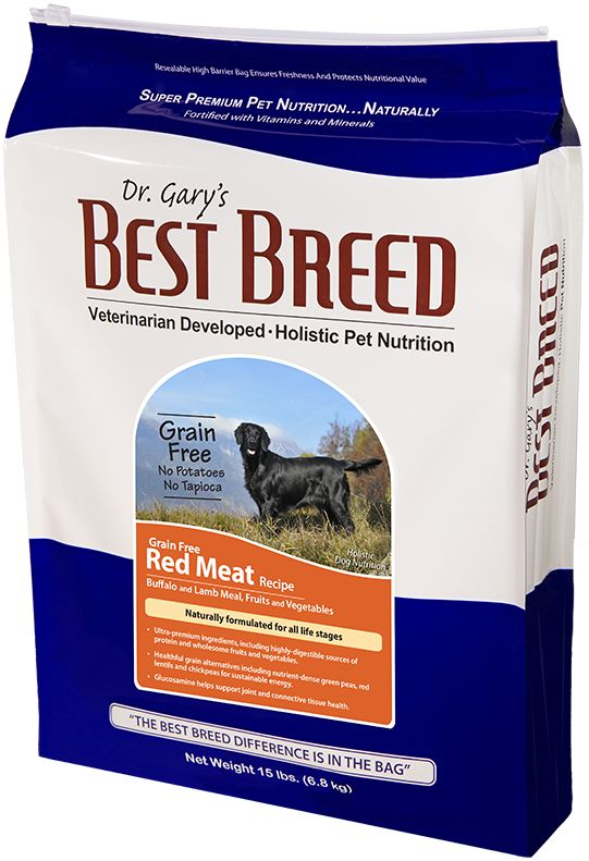 Dr. Gary's Best Breed Dr. Gary's Best Breed Grain Free Red Meat Formula-4 lbs