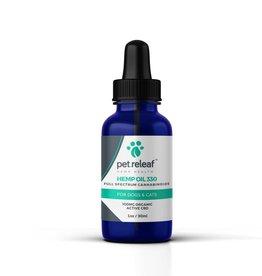 Pet Releaf Hemp Oil 330  1oz 100 mg Hemp Oil  for Dogs & Cats