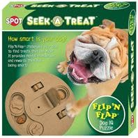 Seek-A-Treat Flip-N-Flap Dog Toy
