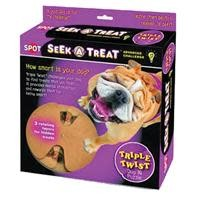 Seek-A-Treat Adv Challenge Triple Twist Dog Toy
