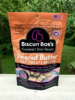 Biscuit Bob 6 oz Dog Peanut Butter Tiny Treats