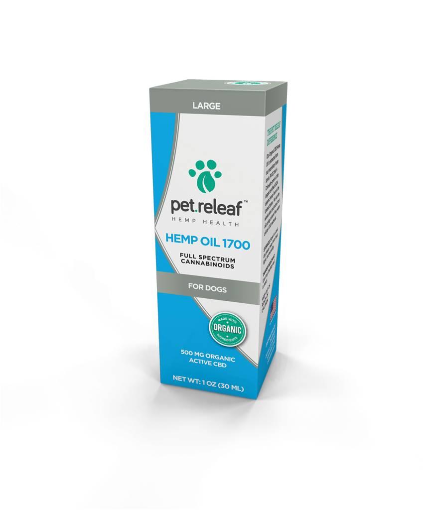 Pet Releaf Hemp Oil 1700  1 oz 500 mg Hemp Oil for Dogs
