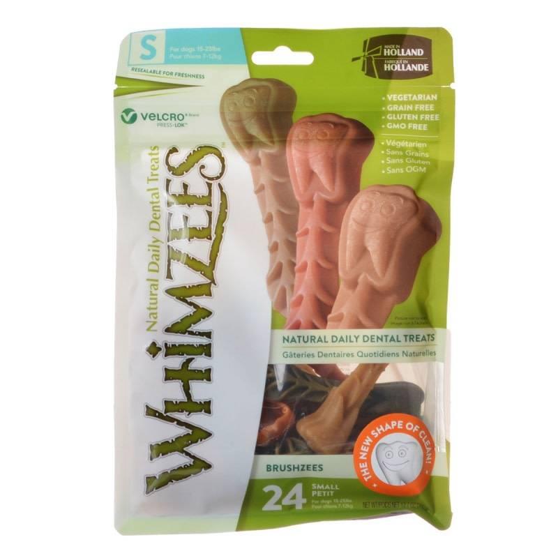 "Bag (24) 3.4"" Whimzees Brushzee Dog Treat"