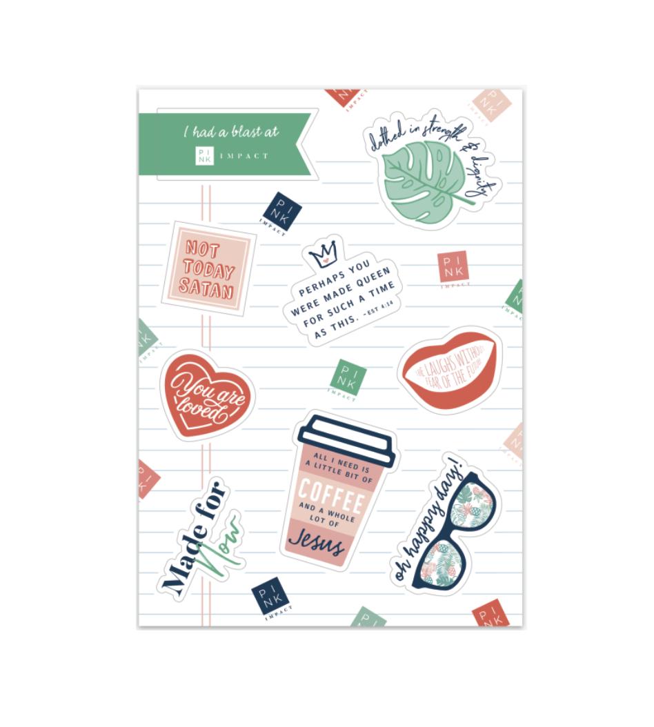 Pink Impact Sticker Sheet