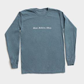 Tee - Hear Believe Obey Blue
