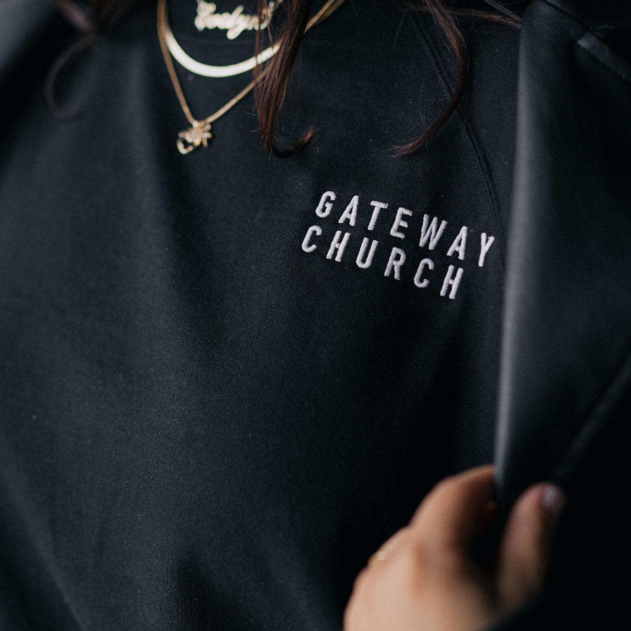 PRINTED THREADS Pullover - Gateway Church Black