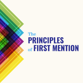 Principles of First Mention The Series DVDs
