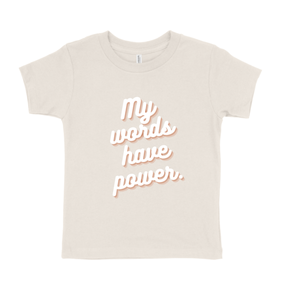 My Words Kids Tee Tan