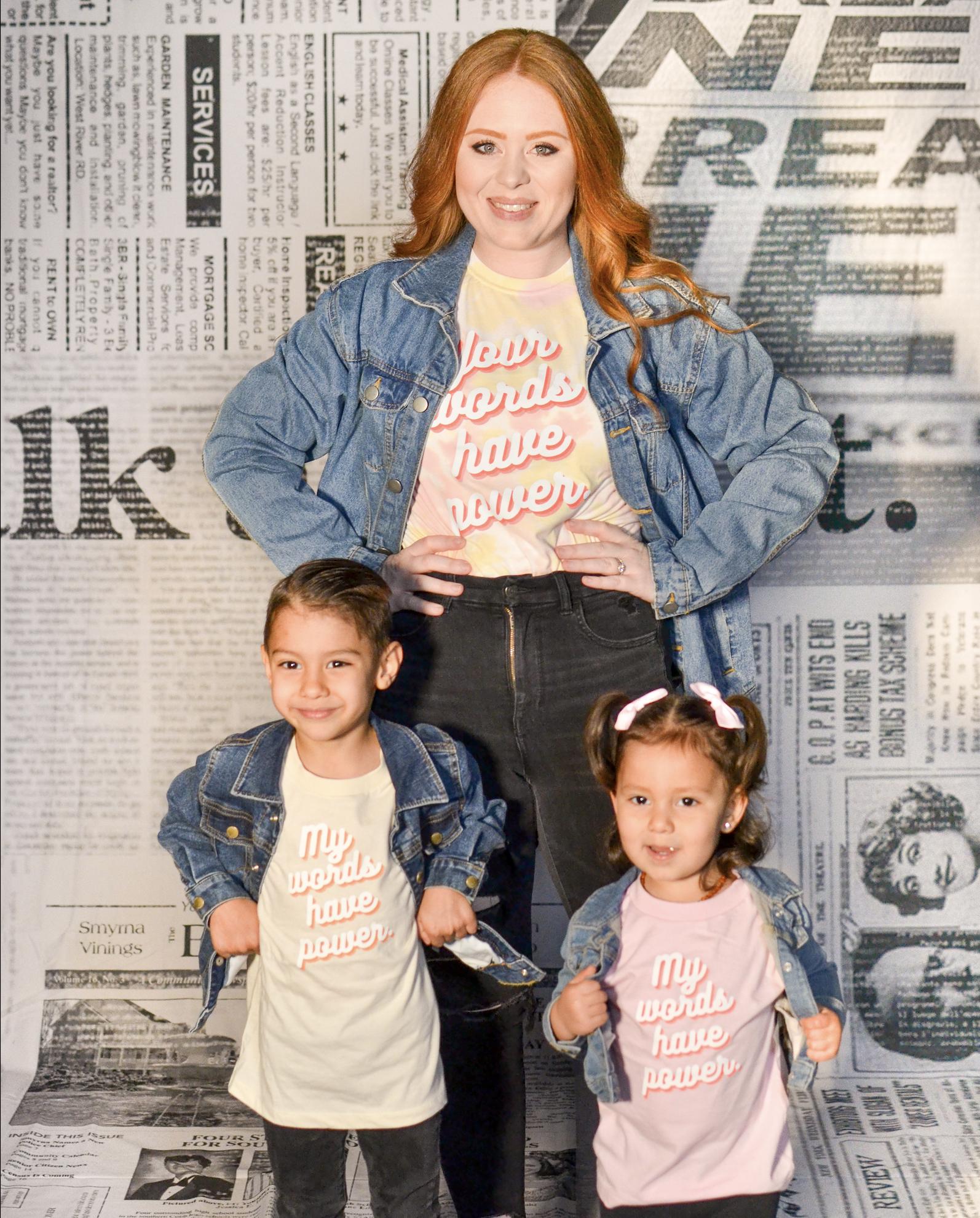 My Words Kids Tee Pink