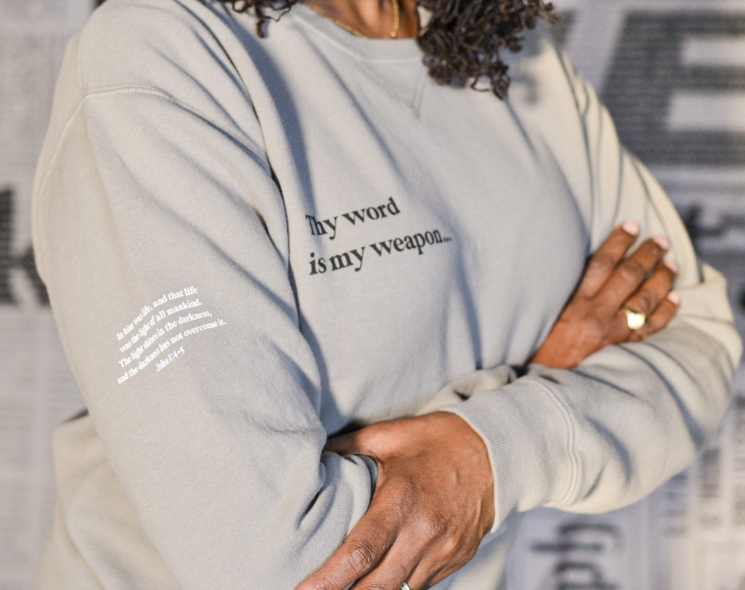 PRINTED THREADS Power of God Pullover