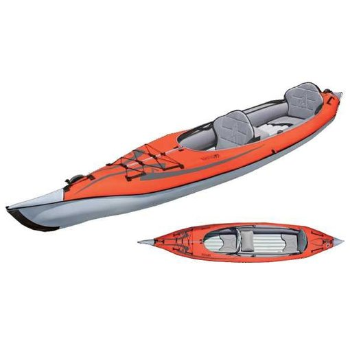 Advanced Elements Advanced Frame Convertible Elite Kayak Red/Gray