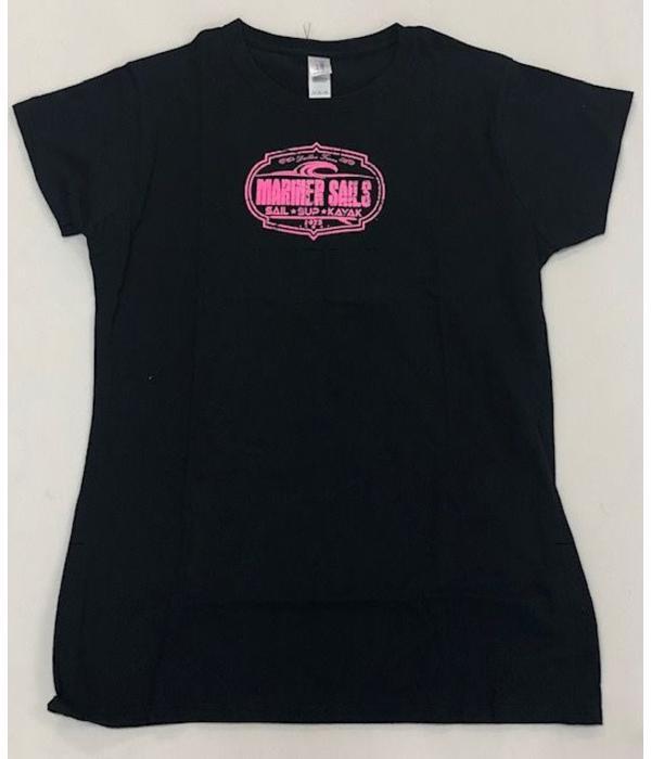 Mariner Sails T Shirt Womens Black XX-Large