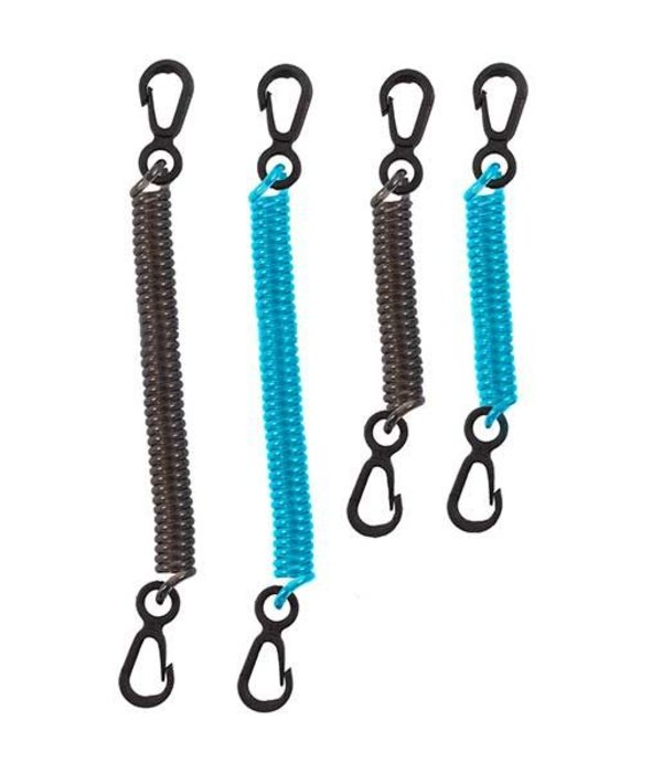 Seattle Sports Coiled Tether Black/Blue (Pack Of 4)