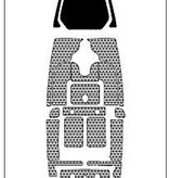 Hobie PA 14 Deck Pad Kit Interior Green/Espresso