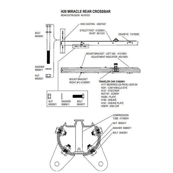 Crossbar H20 Extrusion Aft