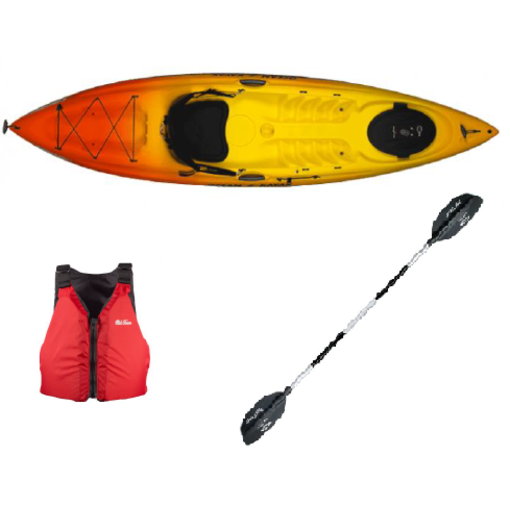 Ocean Kayak (Prior Year Model) 2019 Caper Sunrise Package With Paddle And PFD