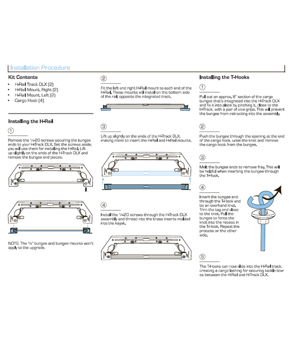 Hobie H-Rail Upgrade Kit For H-Track