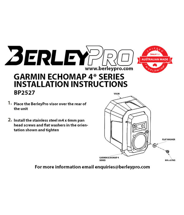 BerleyPro (New) Garmin ECHOMAP™ Plus 4 Series Visor