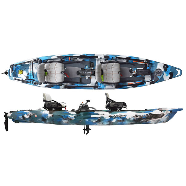 Lure II Tandem Overdrive Pedal Kayak (Includes Beavertail and 8-Ball)