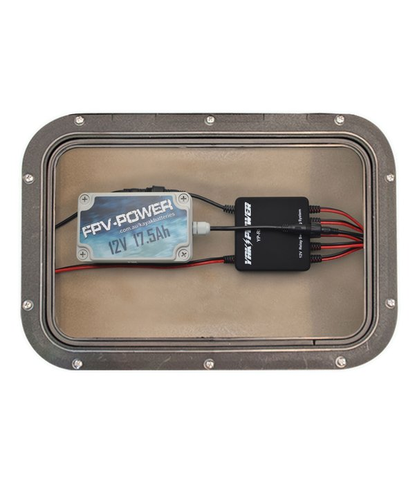 """YakPower 12"""" Battery Terminal Connector w/SAE to FPV Battery Connector"""
