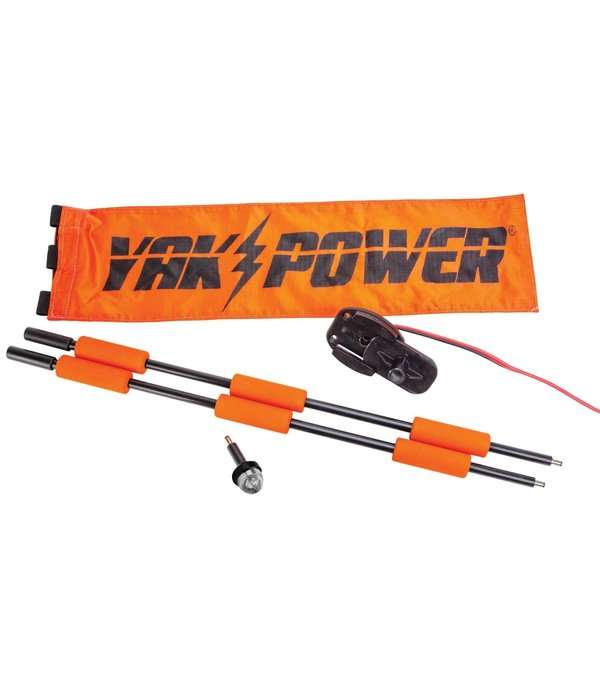 YakPower Lightning Rod Extendable Powered 360 Degree Safety Light and Safety Flag