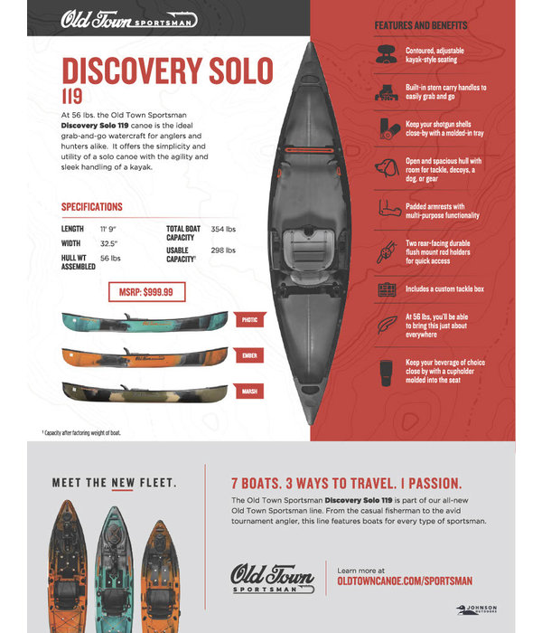 Old Town Sportsman Discovery Solo 119