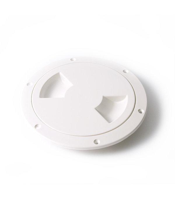 "Hobie Deckplate Hatch Screw-In White 5"""