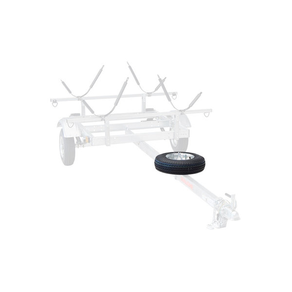 "Spare Tire For EcoLight Trailer 20"" x 8"" Includes Lockable Attachment"