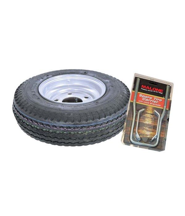 """Malone Spare Tire For EcoLight Trailer 20"""" x 8"""" Includes Lockable Attachment"""