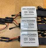 FPV-Power 150Ah V3 Waterproof Lithium Batteries Wired In Parallel With 3 10Ah Chargers (3 50Ah Batteries)