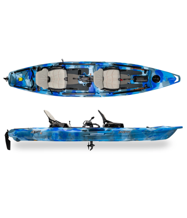 FeelFree Lure II Tandem Overdrive Pedal Kayak (Includes Beavertail and 8-Ball)
