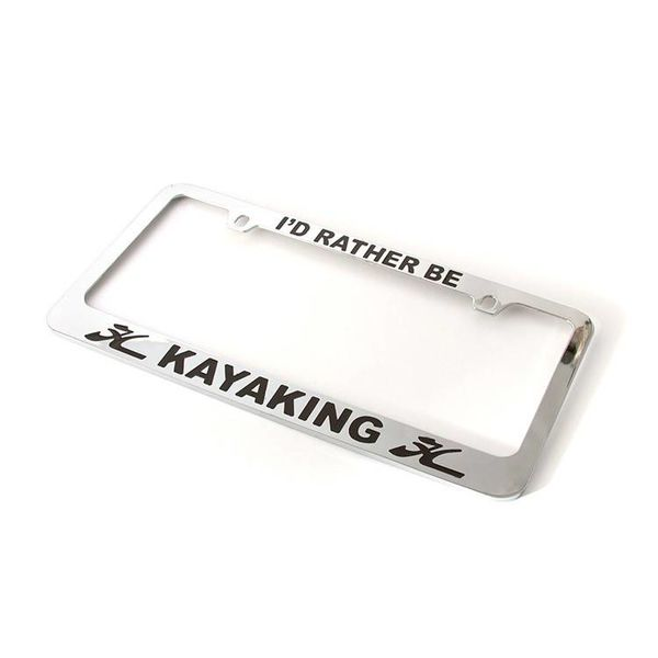 License Plate Frame Kayaking