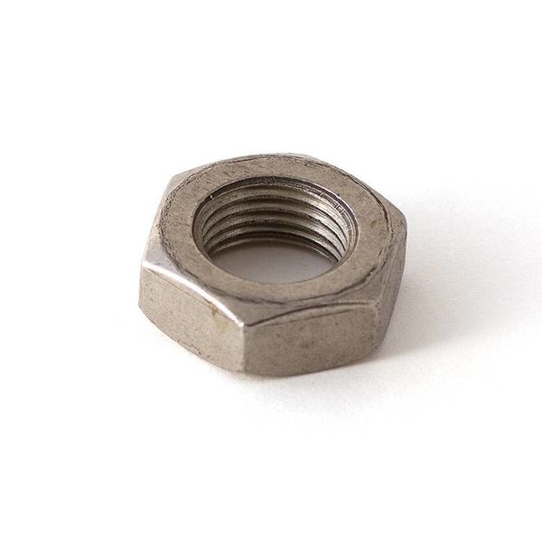 "(Discontinued) Nut 9/16""-18 Hex Low Profile SS"