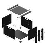 Yak-Attack BlackPak, 12X16X11, Black, Includes Lid And 3 Rod Holders