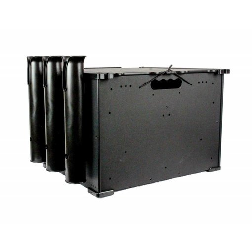 "Yak-Attack BlackPak Black 12"" x 16"" x 11"" Includes Lid And 3 Rod Holders"