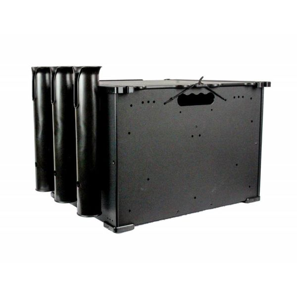 "BlackPak Black 12"" x 16"" x 11"" Includes Lid And 3 Rod Holders"